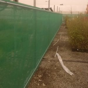 Fence line windbreak