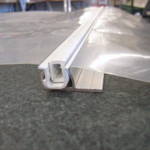 Duralock greenhouse film clipping system